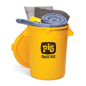 PIG® Spill Kit in 32-Gallon High-Visibility Economy Container