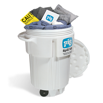 PIG® Spill Kit in 95-Gallon Wheeled Overpack Salvage Drum