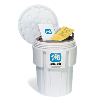 PIG® Spill Kit in 65-Gallon Overpack Salvage Drum