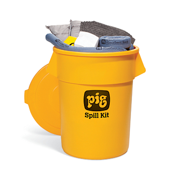 PIG® Spill Kit in 55-Gallon High-Visibility Economy Container