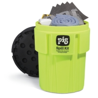 PIG® Spill Kit in 95-Gallon High-Visibility Container