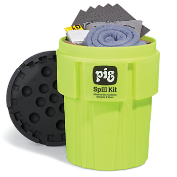 PIG® Spill Kit in 65-Gallon High-Visibility Container