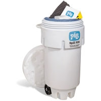 PIG® Spill Kit in 50-Gallon Wheeled Overpack Salvage Drum