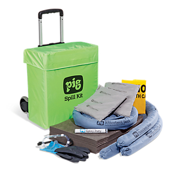 PIG® Spill Kit in High-Visibility Pull Cart