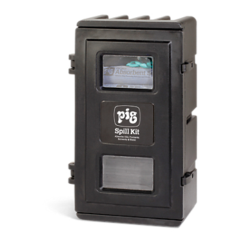 PIG® Spill Kit in UV-Resistant Wall-Mount Cabinet