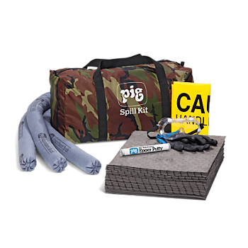 PIG® Spill Kit in Camo Duffel Bag
