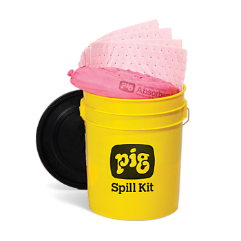 PIG® HazMat Spill Kit in 5-Gallon High-Visibility Economy Container