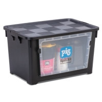 PIG® Battery Acid Spill Kit in See-Thru Bin
