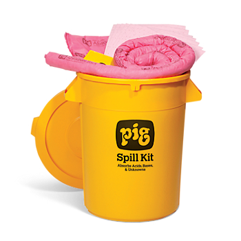 PIG® HazMat Spill Kit in 32-Gallon High-Visibility Economy Container