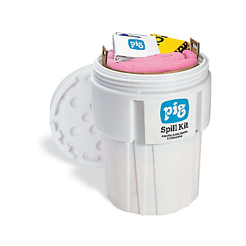 PIG® HazMat Spill Kit in 65-Gallon Overpack Salvage Drum
