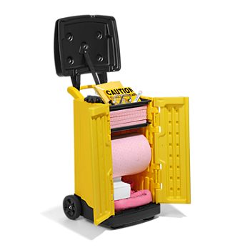 PIG® HazMat Spill Kit in High-Visibility Cart