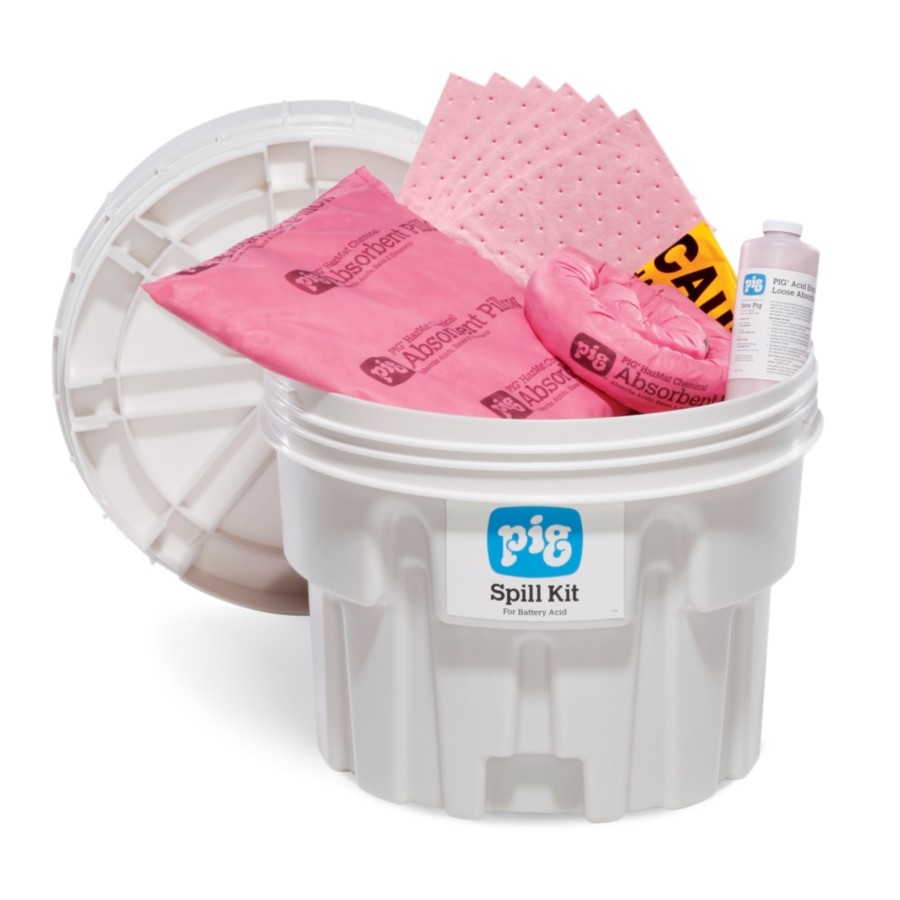 PIG® Battery Acid Spill Kit in 20-Gallon Overpack