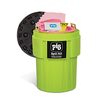 PIG® HazMat Spill Kit in 95-Gallon High-Visibility Container