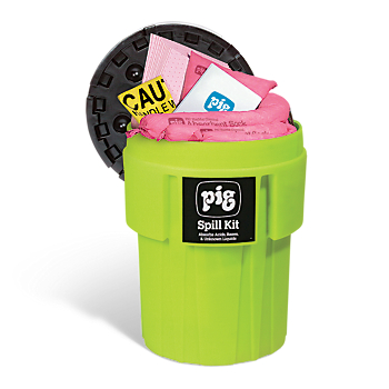 PIG® HazMat Spill Kit in 65-Gallon High-Visibility Container