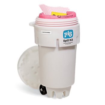 PIG® HazMat Spill Kit in 50-Gallon Wheeled Overpack Salvage Drum