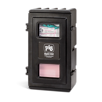 PIG® HazMat Spill Kit in UV-Resistant Wall-Mount Cabinet