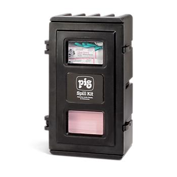 PIG® HazMat Spill Kit in UV-Resistant Wall-Mount Cabinet