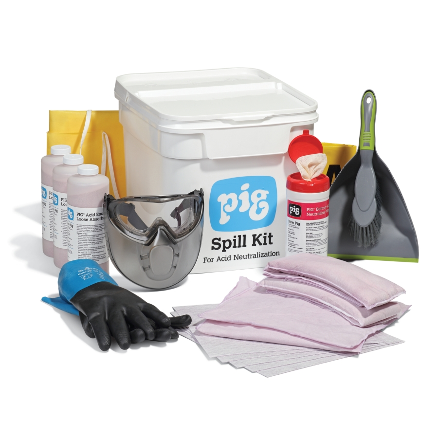 PIG® Acid Neutralizing Spill Kit in Bucket