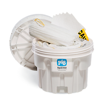 PIG® Oil-Only Spill Kit in 20-Gallon Overpack Salvage Drum