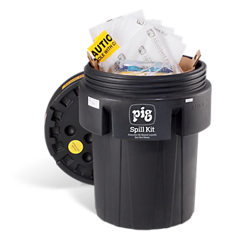 PIG® UV-Resistant Oil-Only Spill Kit in 95-Gallon Overpack Salvage Drum