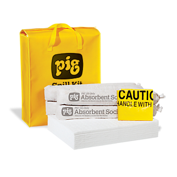 PIG® Oil-Only Spill Kit in High-Visibility Bag