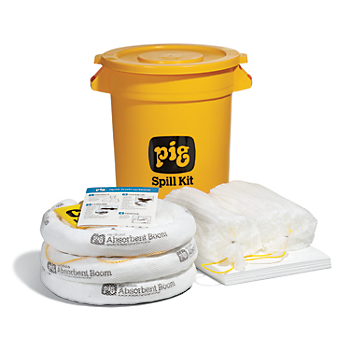 PIG® Oil-Only Spill Kit in 20-Gallon High-Visibility Economy Container