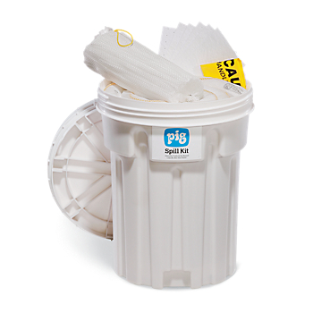 PIG® Oil-Only Spill Kit in 30-Gallon Overpack Salvage Drum