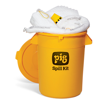 PIG® Oil-Only Spill Kit in 32-Gallon High-Visibility Economy Container