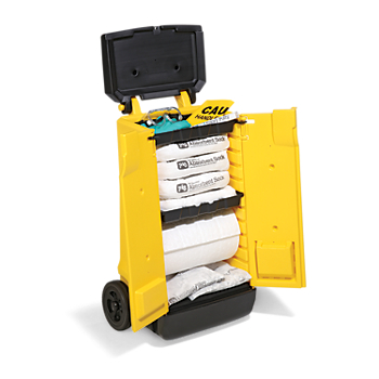 PIG® Oil-Only Spill Kit in High-Visibility Cart
