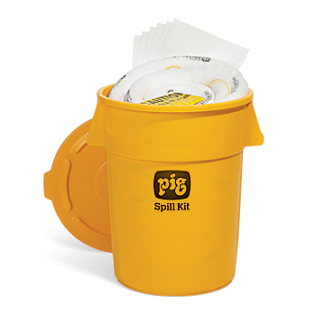 PIG® Oil-Only Spill Kit in 55-Gallon High-Visibility Economy Container