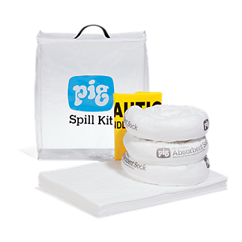 PIG® Oil-Only Spill Kit in See-Thru Bag