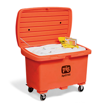 PIG® Oil-Only Spill Kit in High-Visibility Storage Chest