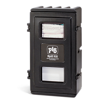 PIG® Oil-Only Spill Kit in UV-Resistant Wall-Mount Cabinet