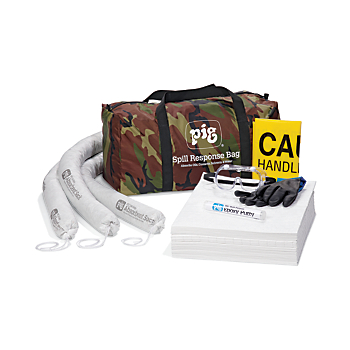 aaf397526982 PIG Oil-Only Spill Kit KIT498 in Camo Duffel Bag at New Pig