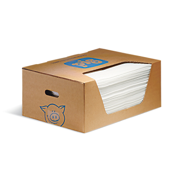 PIG® Oily Water Cleanup Towels in Dispenser Box