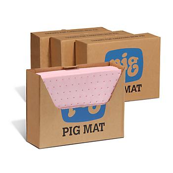 PIG® HazMat Chemical Absorbent Mat Pad in Lab Bench Box® Dispenser