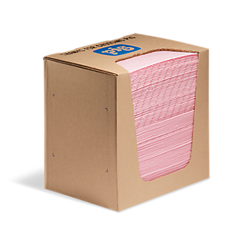 PIG® HazMat Chemical Absorbent Handy Pad in Dispenser Box