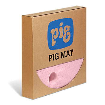 PIG® HazMat Chemical Barrel Top Absorbent Mat