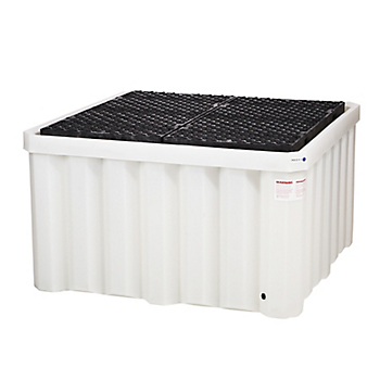 PIG® Heavy-Duty Poly IBC Spill Containment Pallet with Drain