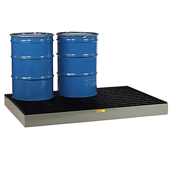 PIG™ 6-Drum Steel Spill Containment Deck