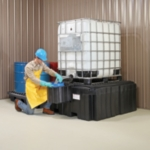 PIG® Poly IBC Spill Containment Pallet with Shelf