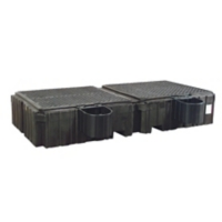 PIG® Twin Poly IBC Spill Containment Pallet with Shelves