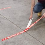 Maintain Distance Floor Marking Tape