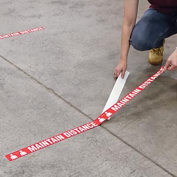 Maintain Distance Floor Marking Tape