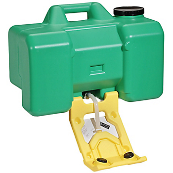 Haws Portable Eye Wash Unit with Wall-Mount Brackets