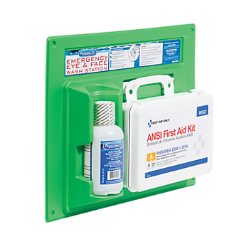 ANSI-Compliant First Aid Kit and Eye Wash Station