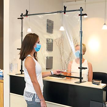 PIG™ Tabletop Adjustable Clear Barrier & Sneeze Guard