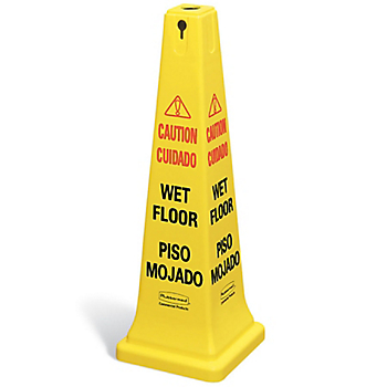 Four-Sided Safety Cone