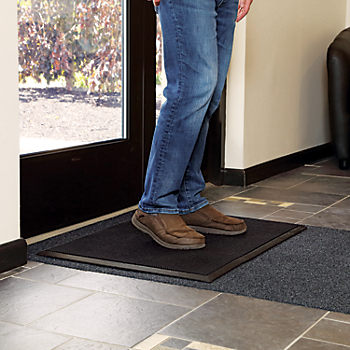 Shoe Disinfectant Mat with Adhesive-Backed Carpeted Runner