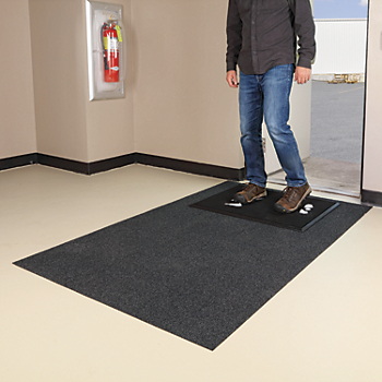 Shoe Disinfectant Mat with Adhesive-Backed Carpeted Rug